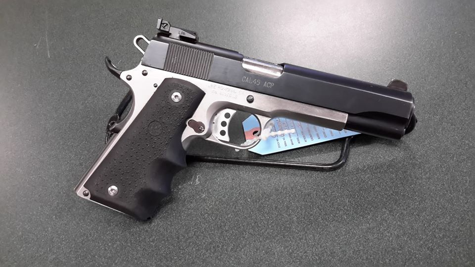 JPE Stainless over black 1911